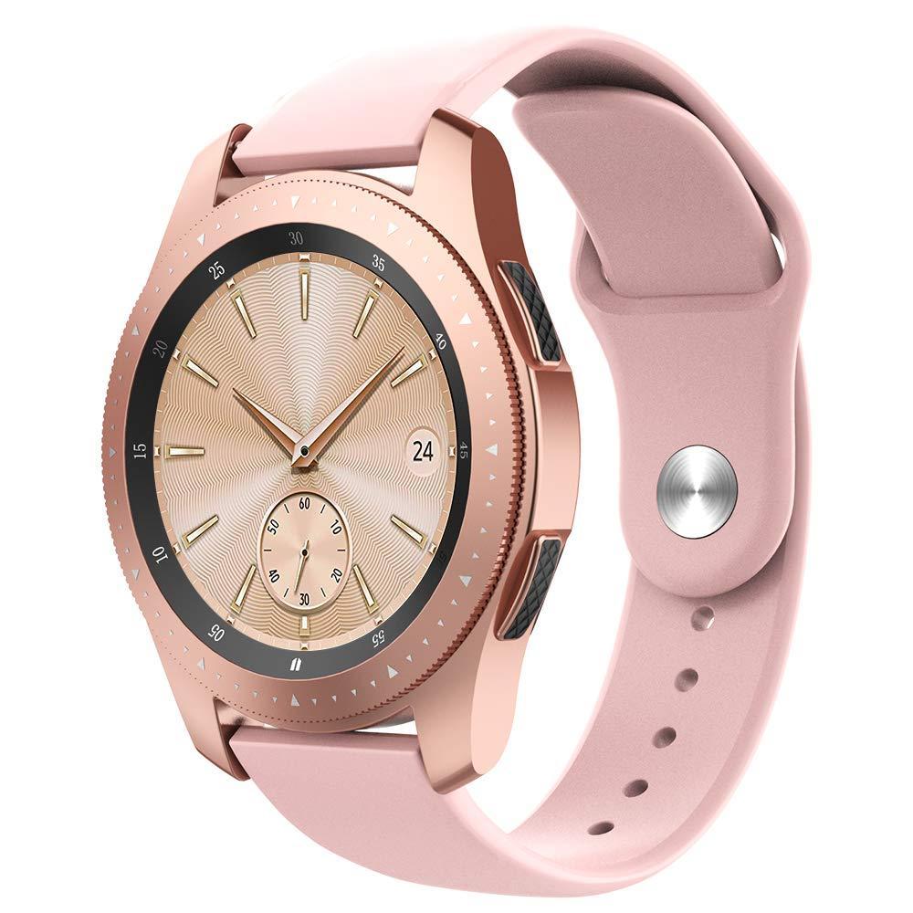 Ремешок BeWatch силиконовый для Samsung Galaxy Watch 42 мм Розовый (1010311.2)