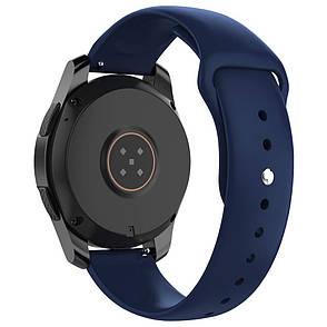 Ремешок BeWatch силиконовый для Samsung Galaxy Watch 42 мм Navy (1010389), фото 2