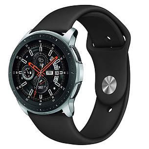 Ремешок BeWatch силиконовый для Samsung Galaxy Watch 46 мм Черный (1020301), фото 2