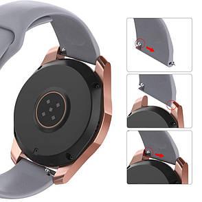 Ремешок BeWatch силиконовый для Samsung Galaxy Watch 46 мм Серый (1020304), фото 2