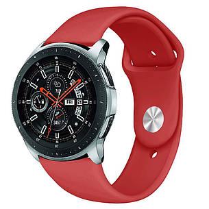 Ремешок BeWatch силиконовый для Samsung Galaxy Watch 46 мм Красный (1020303), фото 2