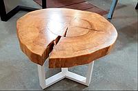 Стол кофейный.Стол журнальный.Стол круглый из дерева ясень.МебельLOFT
