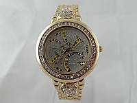 Стильные женские часы Gucci - цвет золото, белый циферблат