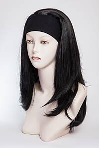 Искусственный парик на ленте № 2.Цвет черный