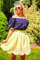 Эффектная и модная юбка-тюльпан со струящимися сборками и завышенной талией, бенгалин, фото 1