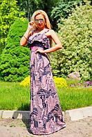 Длинное платье в пол с микромасла, фото 1