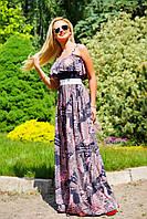 Длинное платье в пол с микромасла