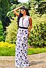 Длинное летнее платье с кулоном, цветочный принт, микромасло