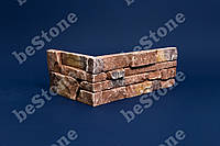 """Гипсовый облицовочный камень. Декоративная плитка """"Карфаген"""" темная угловая - 1,1 м/пог"""
