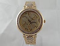 Стильные женские часы Gucci - цвет золото, золотой циферблат