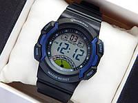 Водонепроницаемые спортивные наручные часы Mingrui - черные с синим