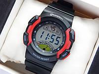 Водонепроницаемые спортивные наручные часы Mingrui - черные с красным