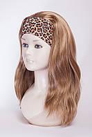 Искусственный парик на ленте №2,цвет мелирование светло-русый с золотинкой, блонд