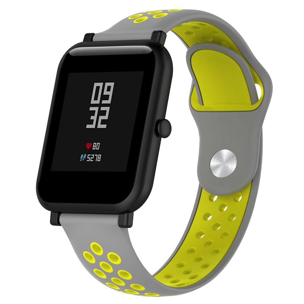 Ремешок BeWatch sport-style для Xiaomi Amazfit BIP Серо-Желтый (1010146)