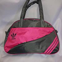 Спортивная сумка для фитнеса Adidas, Адидас серая с розовым ( код: IBS004SF )