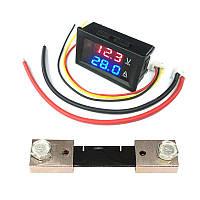 Вольтметр - Амперметр цифровой 0-100В, 0-100А с Шунтом 100А