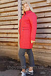 Женское стеганое демисезонное пальто ОПТ, размеры 50-60, фото 4