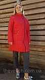 Женское стеганое демисезонное пальто ОПТ, размеры 50-60, фото 5
