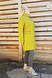 Женское стеганое демисезонное пальто ОПТ, размеры 50-60, фото 10