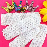 (12шт) Детские повязочки на голову, ширина 4см Цвет - Белый