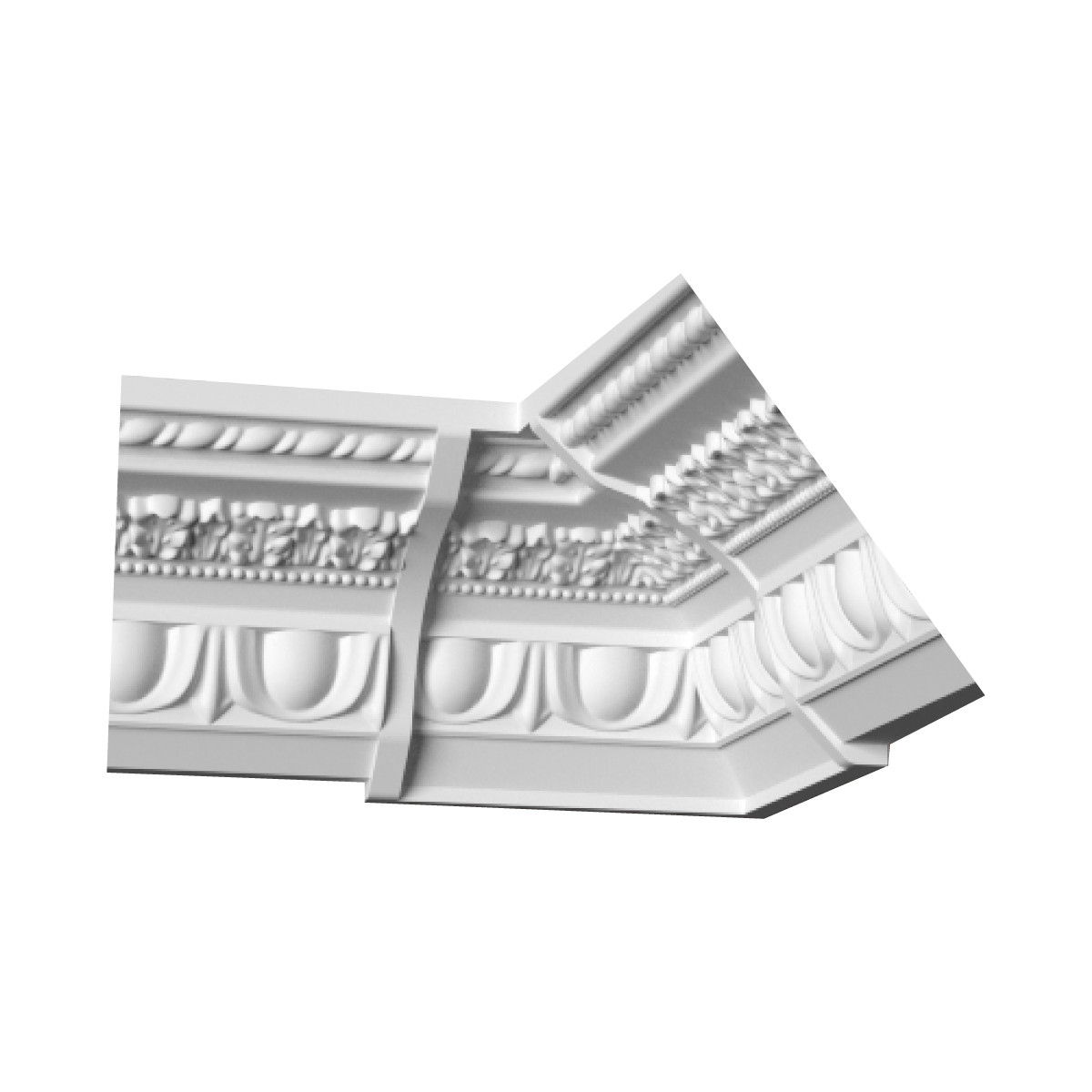 Гипсовая лепнина декоративный угол у-54 h92х110мм