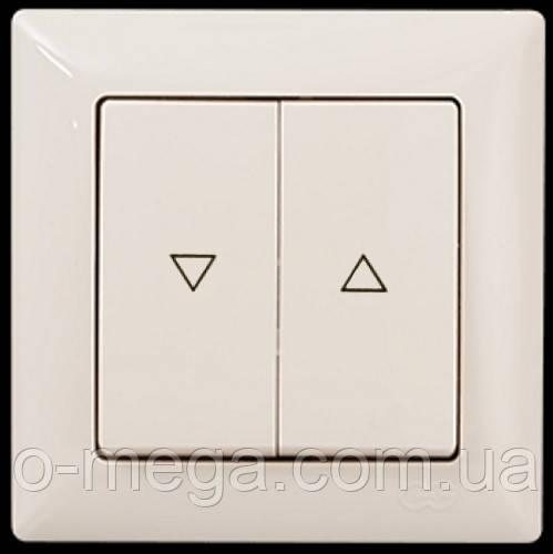 Кнопка управления жалюзи, двойная, Gunsan Visage, кремовая