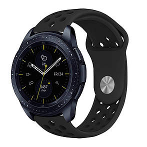 Ремешок BeWatch sport-style для Samsung Galaxy Watch 42 мм Черный (1010101.2), фото 2