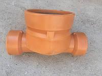 Днище-лоток (проходной) ПВХ 315х160 для смотровых колодцев