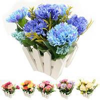 """Композиция из искусственных цветов """"Гвоздики"""" R22327, 21*14*20 см, Искусственные цветы, Декор"""