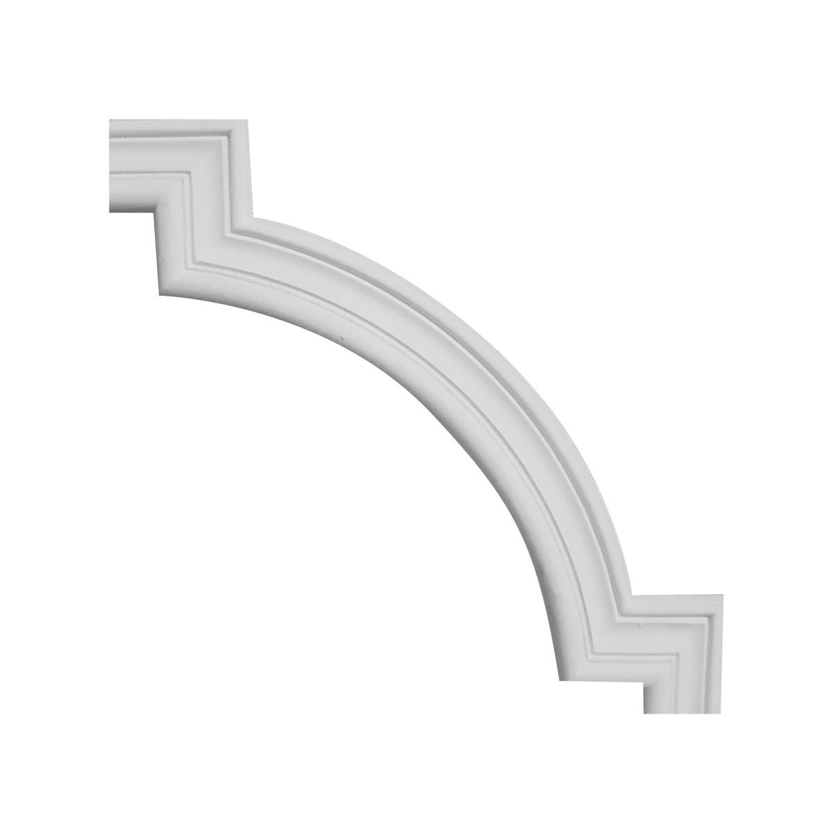 Гипсовая лепнина декоративный угол у-57 h180х180мм
