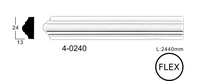 Молдинг для стен, гладкий, Classic Home 4-0240 flex, лепной декор из полиуретана