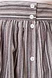 Ультрамодная Льняная Юбка миди длины на пуговицах 44-52р, фото 3