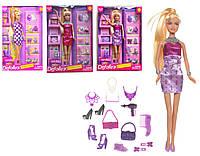 Кукла с обувью и аксессуарами, 8233-1 (фиолетовый) (8233-1)