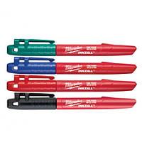 Набор маркеров MILWAUKEE INKZALL (Синий/Красный/Зеленый/Черный) 48223106