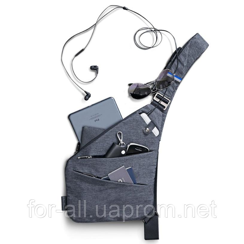Мужская сумка через плечо Crossbody (оригинал)+подарок, фото 1