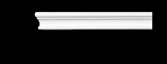 Молдинг для стен, гладкий, Classic Home 4-0350 flex, лепной декор из полиуретана
