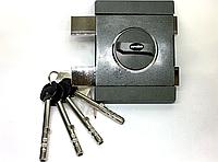 Замок накладной Gerda Tytan ZX GT8 (длинный ключ) Цвет: графит