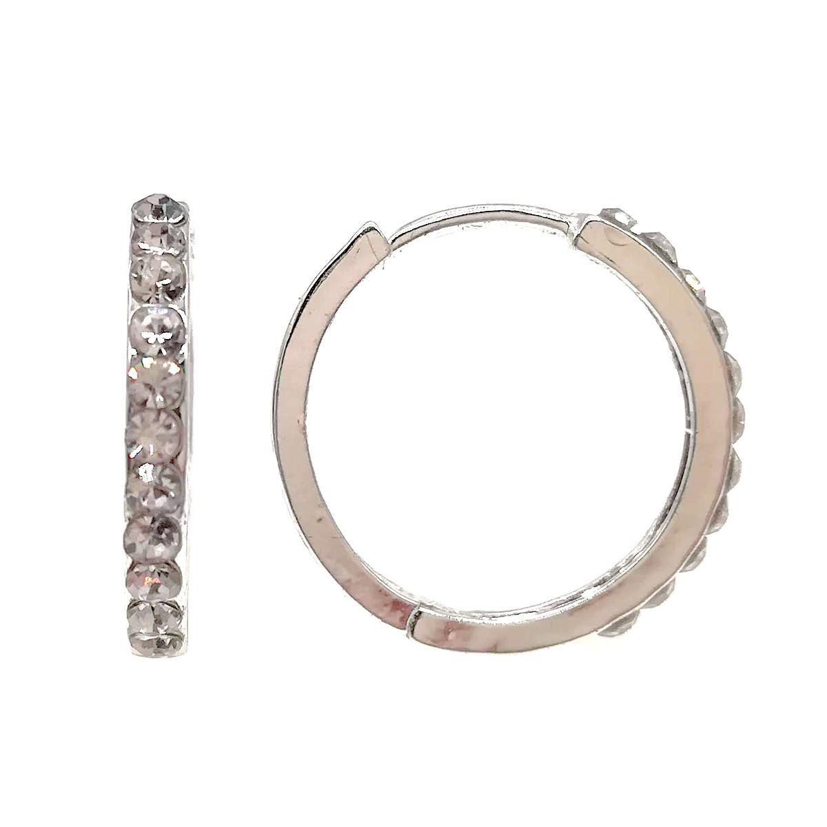 Сережки з фіанітами, посріблені, СР00011 (1)