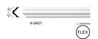 Молдинг для стен, гладкий, Classic Home 4-0401 flex, лепной декор из полиуретана