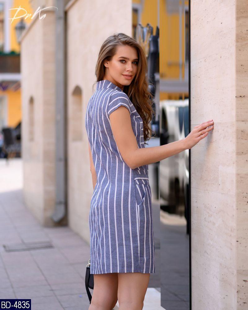 0b399d8ab1d8bd2 Женское стройнящее модное летнее мини платье в полоску с коротким рукавом ( лен) 2 цвета ...