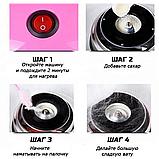 Аппарат машина для приготовления сладкой ваты VOLRO Cotton Candy Pink (vol-129), фото 3