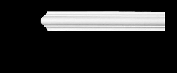 Молдинг для стін, гладкий, Classic Home 4-0403 flex, ліпний декор з поліуретану