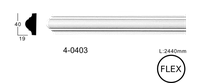 Молдинг для стен, гладкий, Classic Home 4-0403 flex, лепной декор из полиуретана