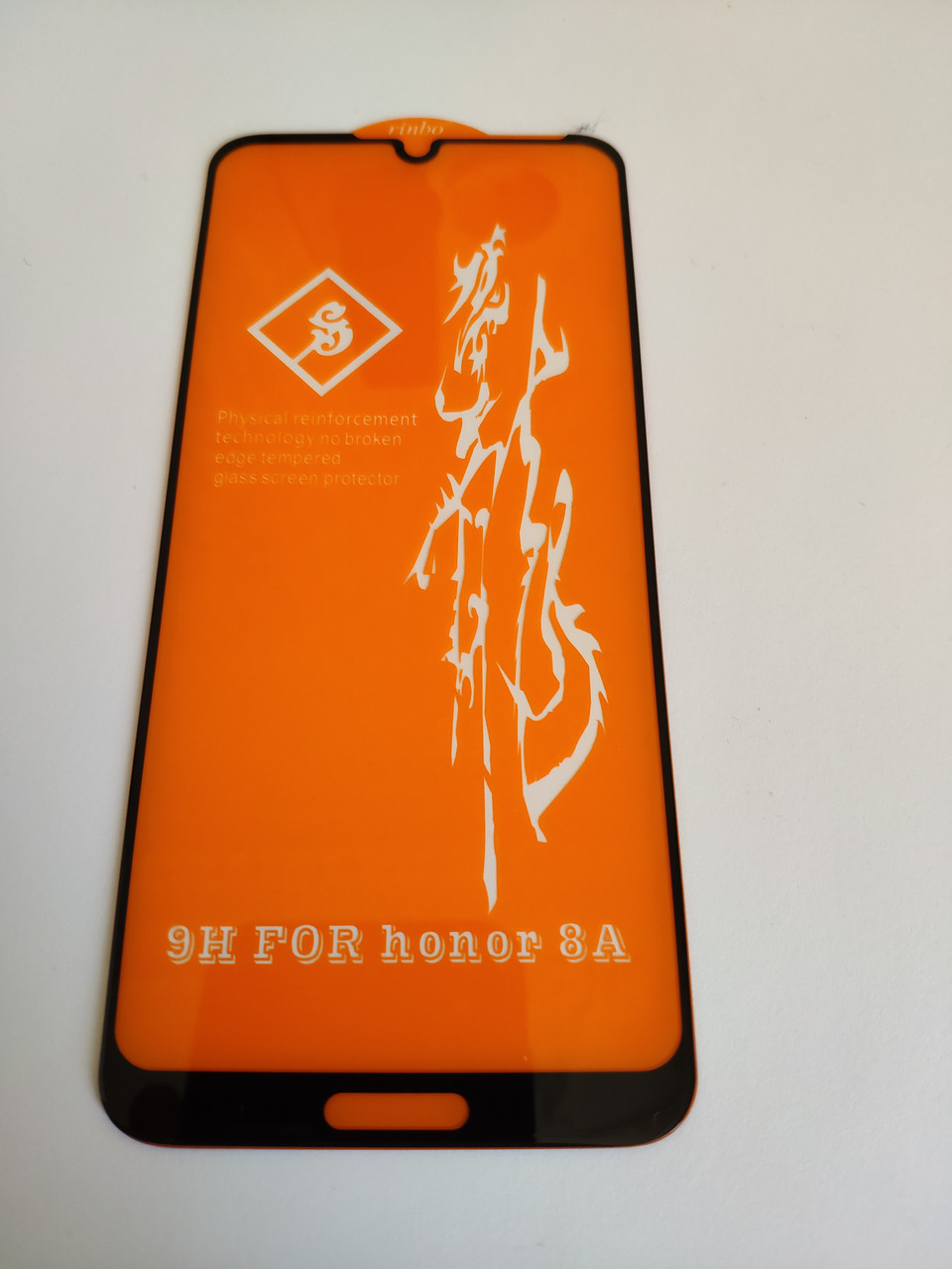 Захисне скло 6D для Honor 8A Full Glue Чорне