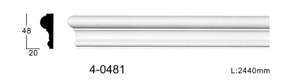 Молдинг для стен, гладкий, Classic Home 4-0481, лепной декор из полиуретана