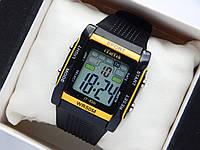 Водонепроникні спортивні наручний годинник прямокутної форми iTaiTek IT-830 - чорні з жовтим, фото 1