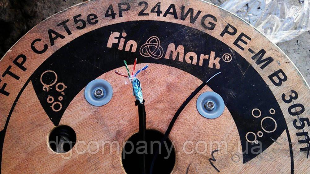 Кабель вита пара Finmark FTP з тросом мідна,305м