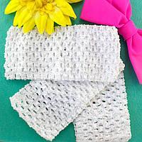 (12шт) Детские повязочки на голову, 7см ширина Цвет - Белый