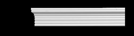 Молдинг для стен, гладкий, Classic Home 4-0601, лепной декор из полиуретана
