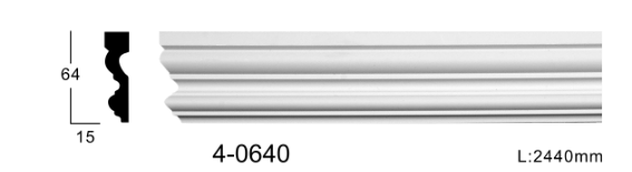 Молдинг для стен, гладкий, Classic Home 4-0640, лепной декор из полиуретана